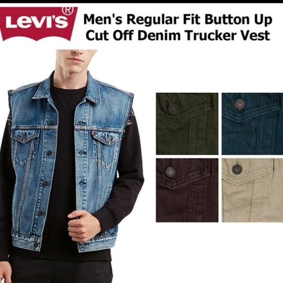 Levis cutoff trucker vest